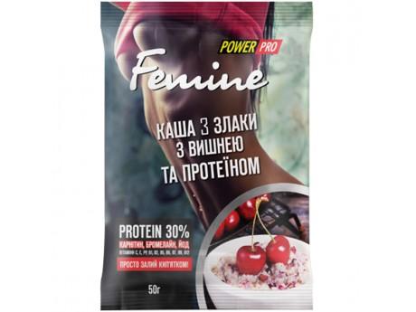 Каша Femine 3 злака с Вишней и Протеином
