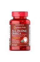 Omega 3, 5, 6, 7, 9 с Витамином D3 (60 капсул)