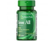 Iron All (Plus Liver, B-complex, Vitamin-C) 100 таблеток