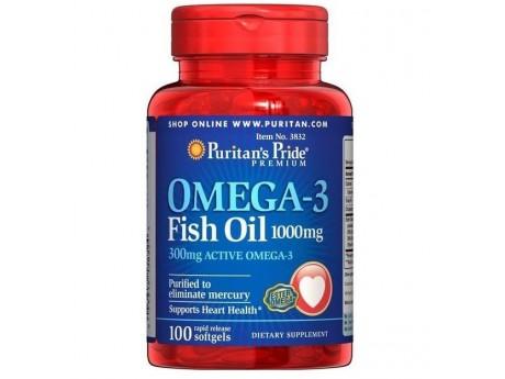 Omega-3 Fish Oil 1000 мг Puritan's Pride (100 капсул)