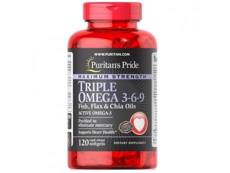Maximum Strength Triple Omega 3-6-9 Fish Flax and Borage Oils