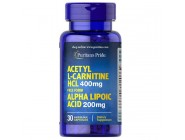 Acetyl L-carnitine 400мг with Alpha Lipoic Acid (30 капсул)