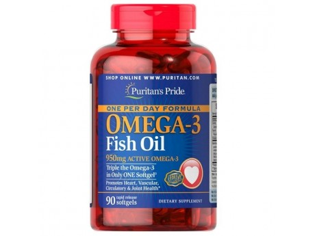 Omega-3 Fish Oil 1360 мг One Per Day (90 капсул)