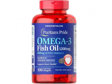 Omega-3 Fish Oil 1200мг (360 mg Active Omega-3) 100 капсул