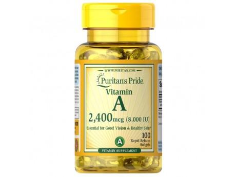 Vitamin A 8000 IU 2400 мкг (100 капсул)