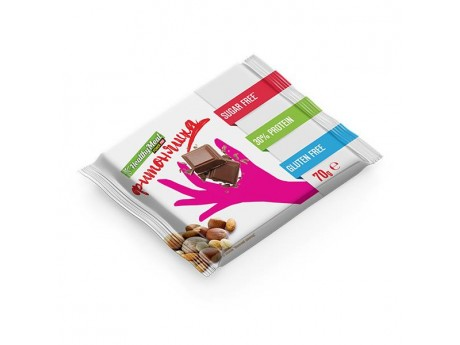 Протеиновый черный шоколад с арахисом