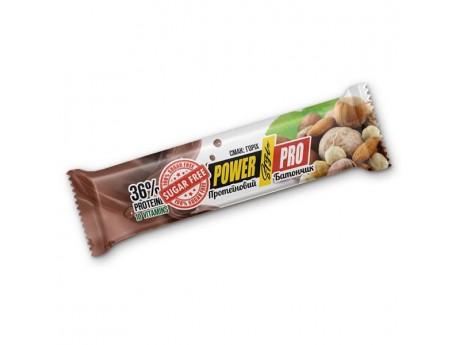 Протеиновый батончик 32% белка с цельным орехом без сахара