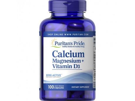 Calcium+Magnesium+Vitamin D3 (100 капсул)