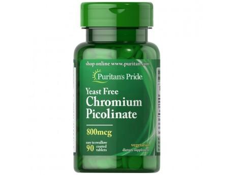 Chromium Picolinate 800 мкг Yeast Free (90 таблеток)