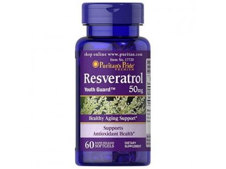 Resveratrol 50 мг Puritan's Pride (60 кап)