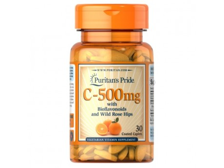 Vitamin С 500 mg with Rose Hips Time Release Puritan`s Pride (30 таблеток)
