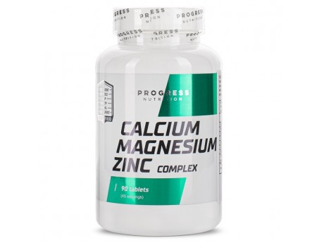 Calcium Zinc Magnesium Progress Nutrition (90 таблеток)
