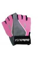 Перчатки Женские PINK FIT Bio Tech USA (Серо-Розовые)