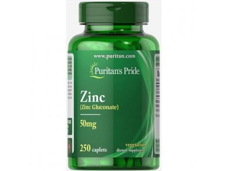 Zinc 50 мг Puritan Pride (250 таблеток)