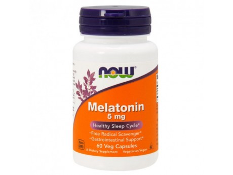 Melatonin 5 мг Now Foods (60 капсул)