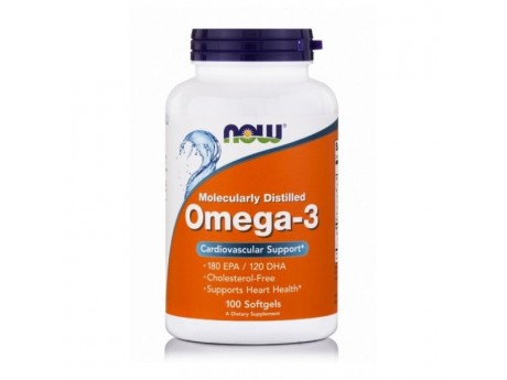 Omega-3 1000 mg Now Foods (100 капсул)