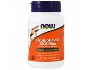 Probiotic-10 50 Billion Now Foods (50 капсул)