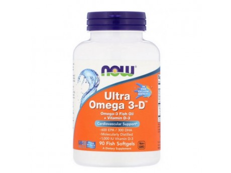 Ultra Omega 3D NOW Foods (90 капсул)