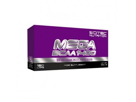MEGA BCAA 1400 Scitec Nutrition  (120 капсул)