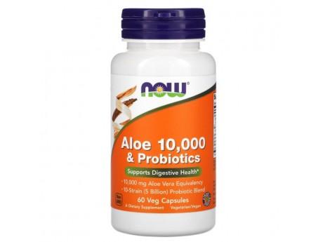 Aloe 10000 Probiotics Now Foods (60 капсул)