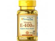 Vitamin E 400 IU Puritan's Pride (100 капсул)
