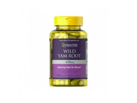 Wild Yam Root 450мг Puritan's Pride (100 капсул)
