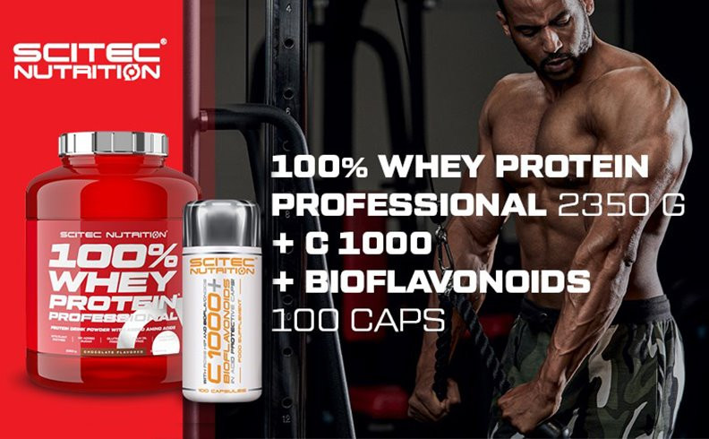 100% WHEY PROTEIN PROFESSIONAL SCITEC NUTRITION 2.35КГ